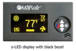 the o-LED display from iMarine Airconditioning