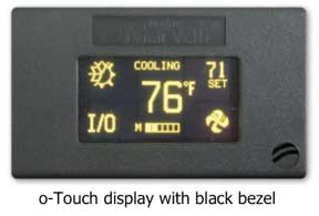 the o-touch display from iMarine Airconditioning